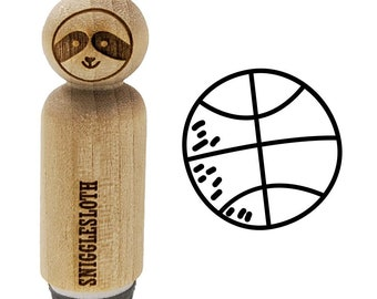 SUPPLY GUY 6mm Basketball Sport Metal Punch Design Stamp SGCH-245