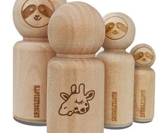 Wooden Stamp Stamp Giraffe Head 2