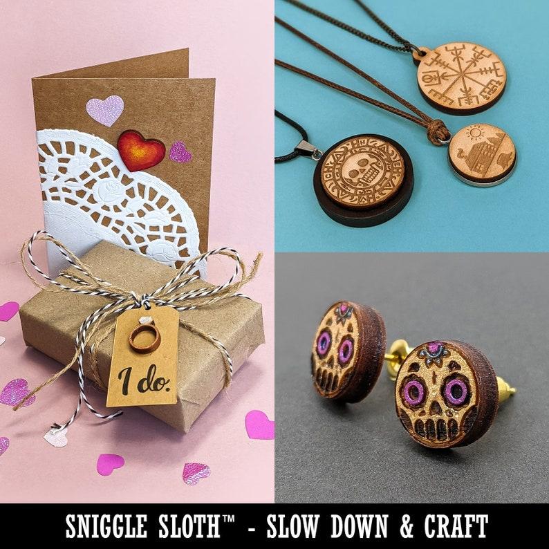 Peeled Corn on the Cob Mini Wood Shape Charms Jewelry DIY Craft