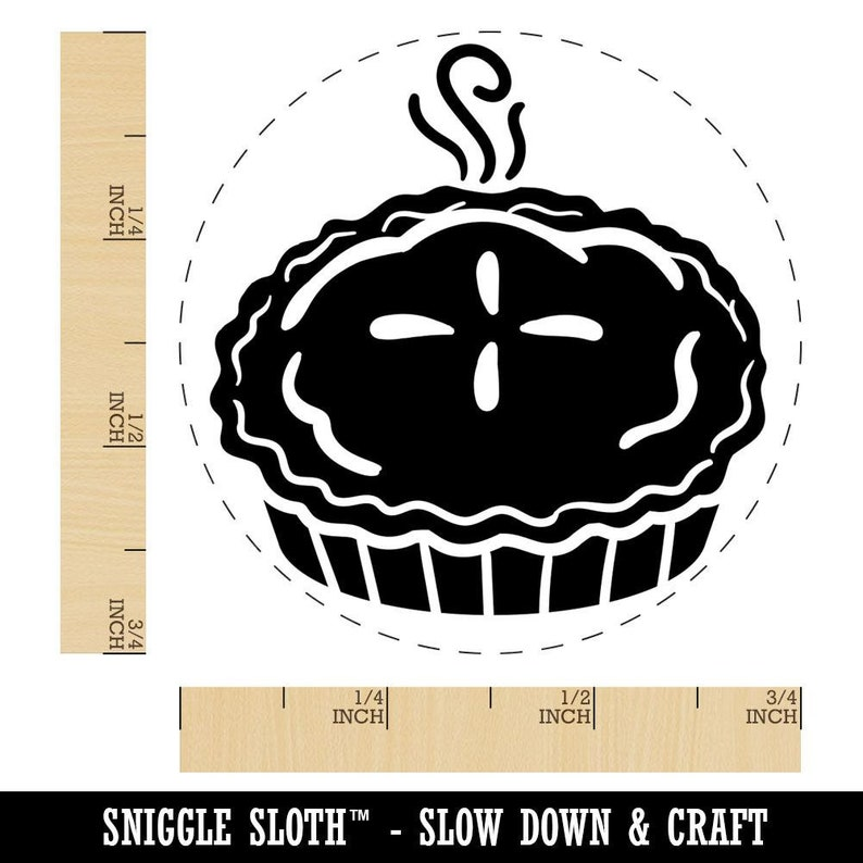 Freshly Made Apple Pie Fall Rubber Stamp for Stamping Crafting Planners