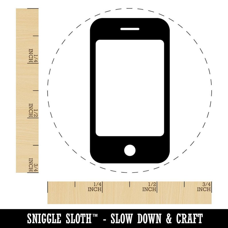 Mobile Tablet Phone Rubber Stamp for Stamping Crafting Planners