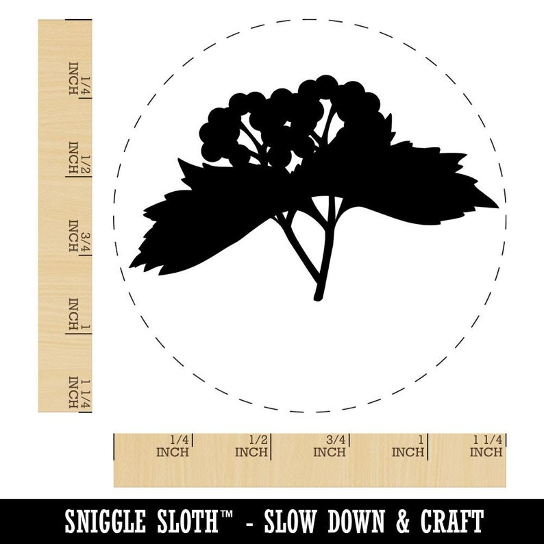 Solid Berries Berry Branch Rubber Stamp for Stamping Crafting Planners