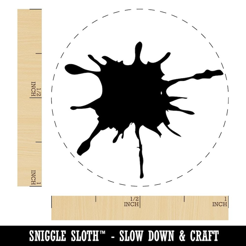 Ink Splatter Rubber Stamp for Stamping Crafting Planners