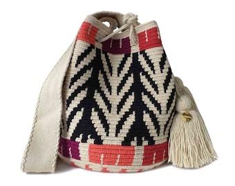 Original WAYUU Crossbody  Handmade Medium Mochila Bag  Handmade Crochet Purse Bag