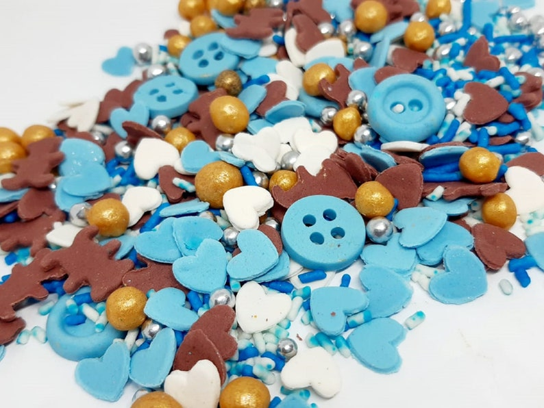 Edible Confetti 250 GR Sprinkles Cupcake topper  Dripcake toppers