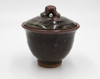 Dark Celadon Cup with Lid