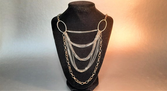 Multi chain Rita D. necklace