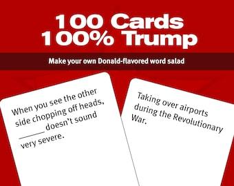 Covfefe Against Democracy — The printable Trump word salad card game