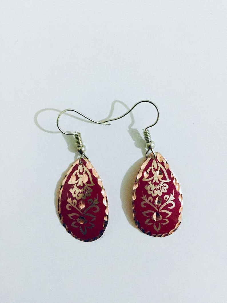 Handmade Copper Earrings image 0