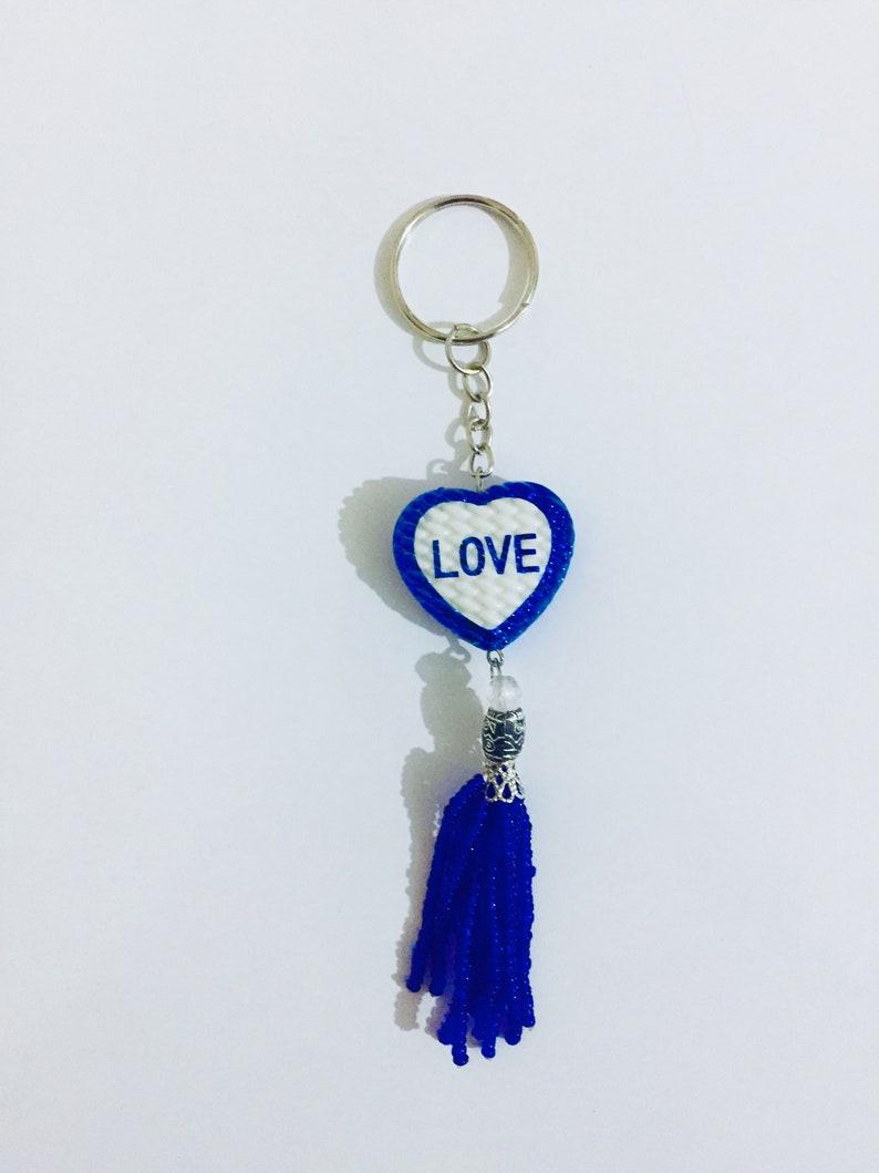 Handmade Love Keychain Heart Shape image 0