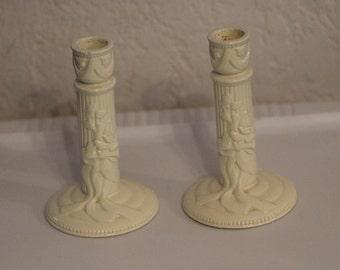 Dakin terragrafics ceramic candle holders white Ceramic Pillar Candle Holders Farmhouse Wedding White