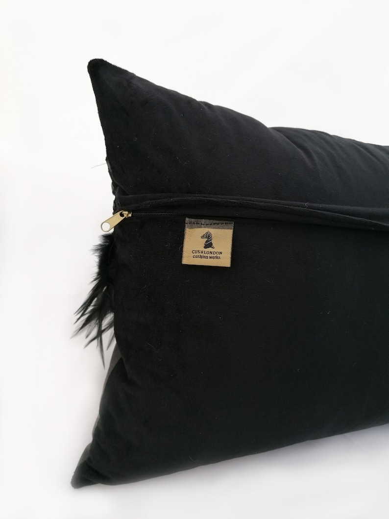 BLACK SWAN Real Leather Real Feather Gothic Black Crow Throw Pillow Cushion Gifts for her Dark Dreamcatcher Home Decoration Cyber Monday