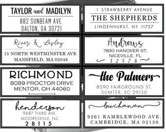 Wedding Shower Gift AS157 Wedding Invite Stamp Return Address Stamp