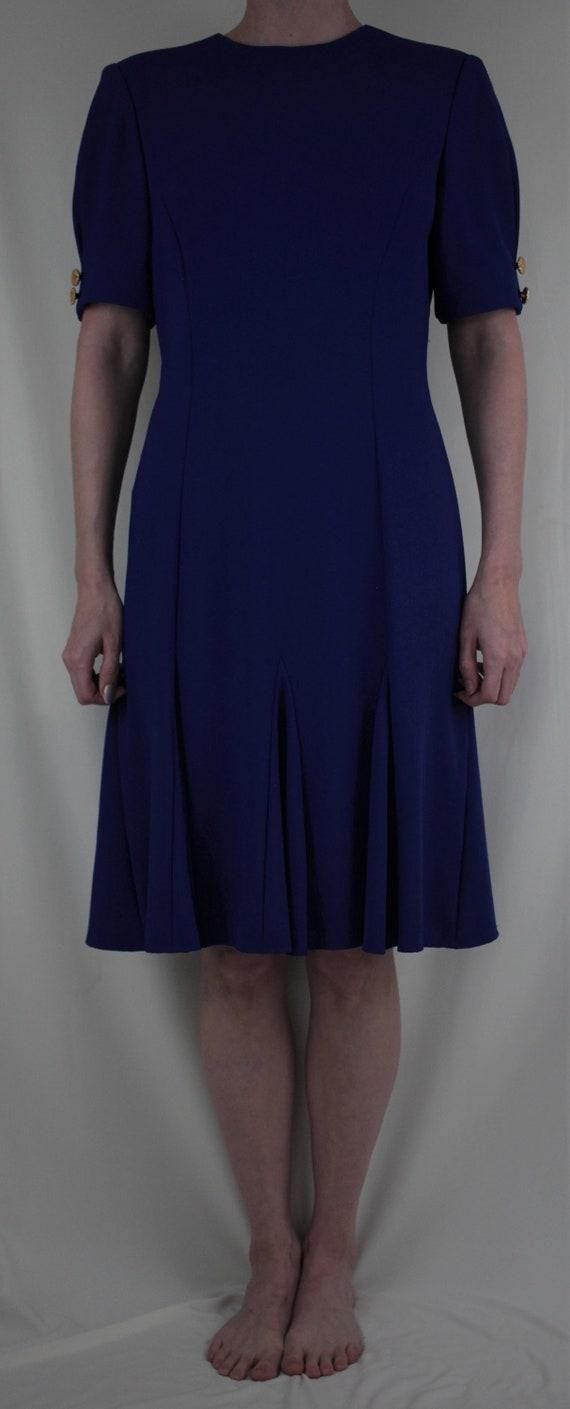 80s Blue Swing Dress - image 2