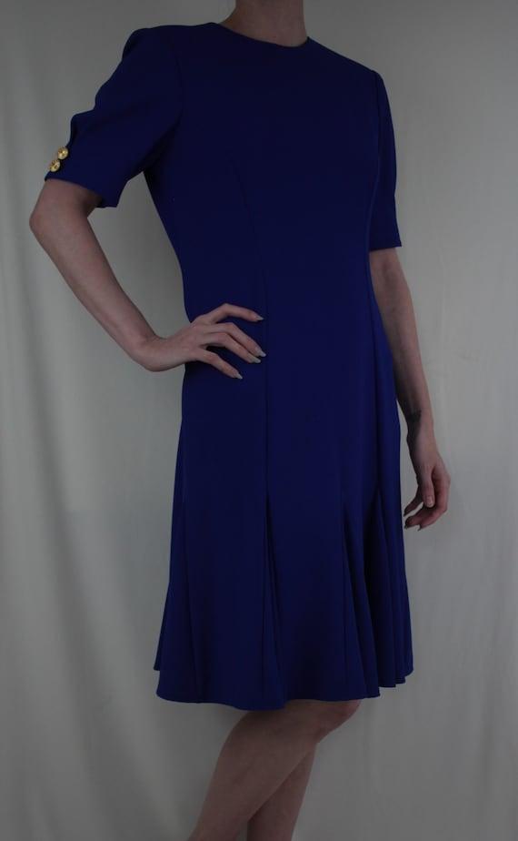 80s Blue Swing Dress - image 1