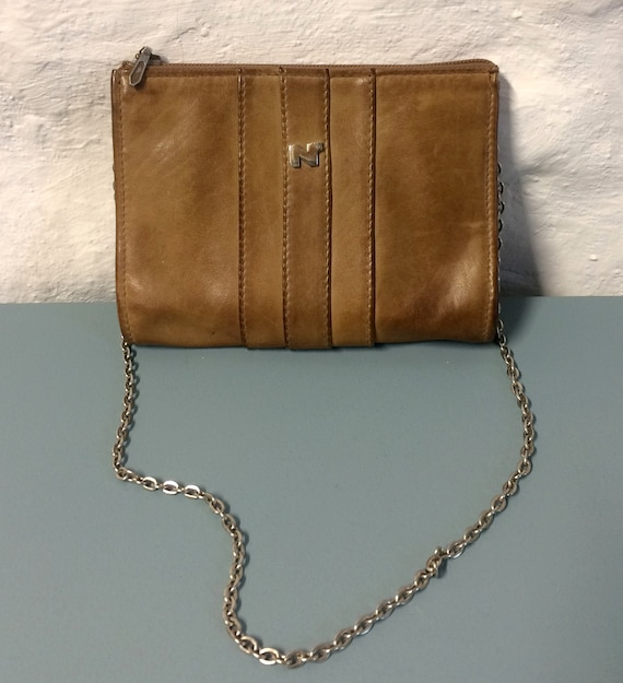 Nina RICCI vintage leather clutch bag