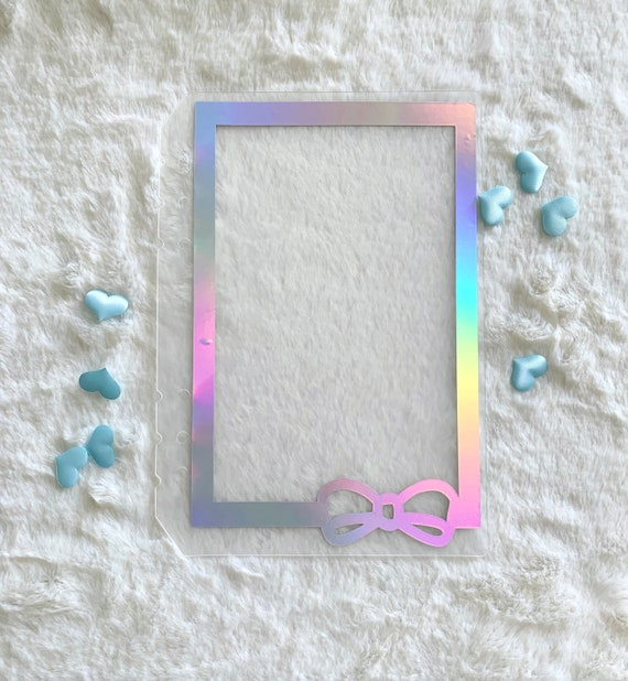 Blue Turquoise Holo Print Planner Bow