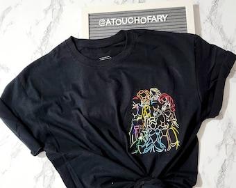 Princess Assemble Embroidered T-shirt