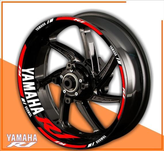 """For SUZUKI GSX-R GSXR Wheel Sticker 17/""""  Reflective Decals Rim Tape Bike-Yellow"""