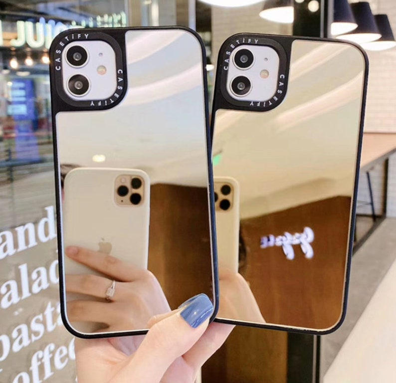 Silver Mirror Phone Case For Make Up /& Selfie For Apple iPhone XR 11 Pro Max Gift For Her. Gold X XS Max 11 11 Pro XS Rose Gold