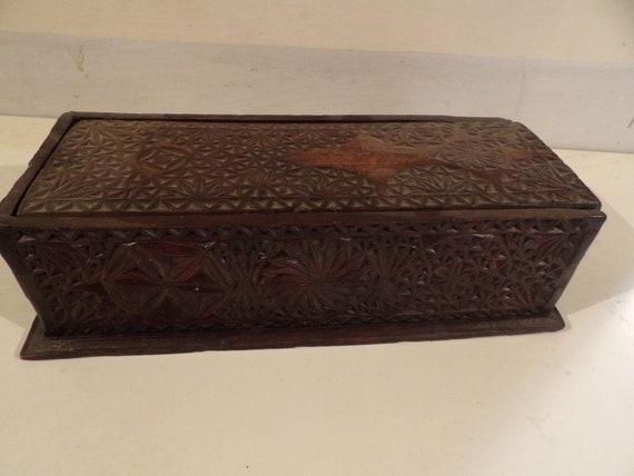 18th-century wooden box