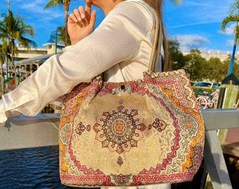 Women's Tote Bag,Big Shoulder Bag ,Boho Tote Bag ,Vegan Leather Tote Bag, City style Tote bag, Big Tote bag with Pocket, Vleyn Design Bags