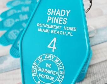Golden Girls Shady Pines Keychain Hotel Sophia Petrillo Room Key Gift Key Fob The Golden Girl Fans