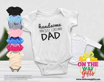 Happy Fathers Day Uncle Heart and Arrow Baby Romper