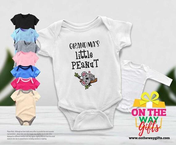 Grandmas Little Peanut Comfortable Baby Infant Onesie Sleeveless Clothes White