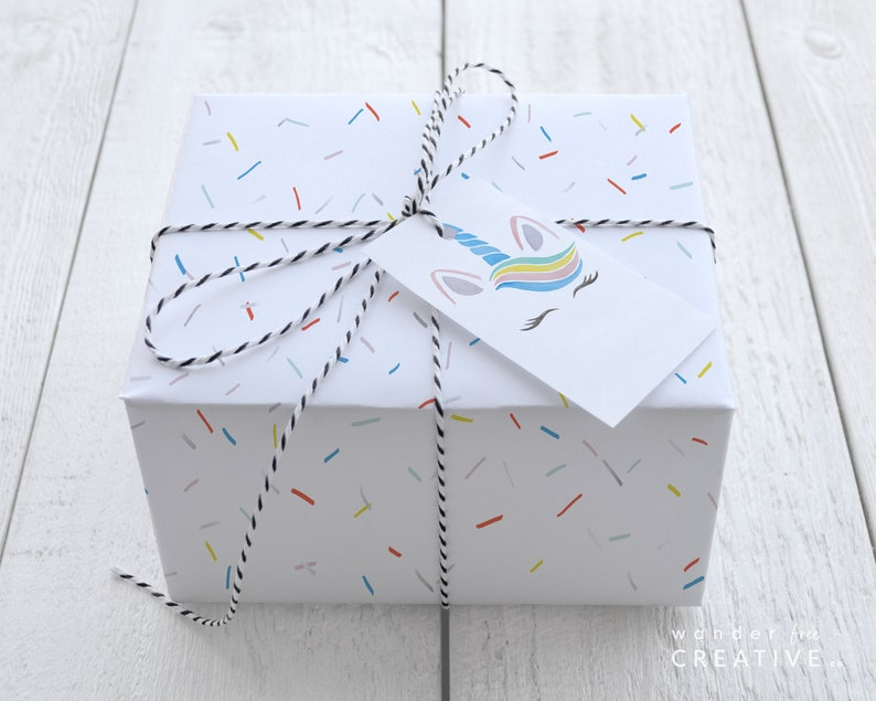 Digital Download Summer Wrapping Paper Eco Kids Birthday Christmas Holiday 8.5 x 11 PRINTABLE Rainbow Sprinkles Gift Wrap