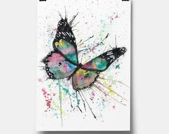 Pintado a mano aleteo por zapatos mariposa | Etsy
