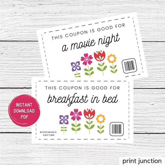 Mother's Day Coupons  Mother's Day Coupon Book