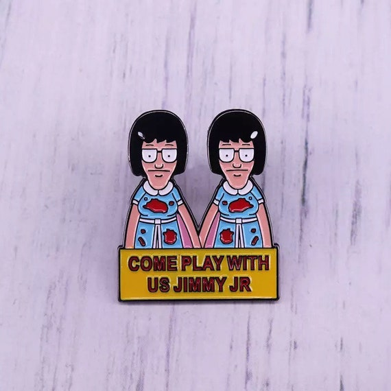 Tina Belcher UHHHH Bobs Burgers Enamel Pin Badges UK Seller.