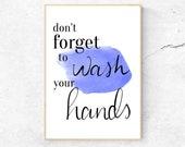 Wash Your Hands Bathroom Art - Bathroom Wall Print