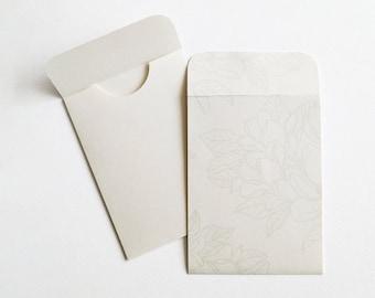 MINI ENVELOPES   10-Pack Small Ivory Envelopes, Freebie Envelopes, Gift Card Envelope, Cash Envelope, Gift Card Holder, Magnolia