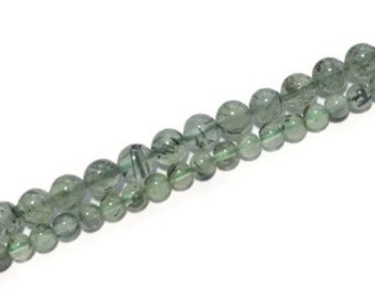 9.5 line 7 to 8mm PREHNITE faceted gemstone beads we suggest using 0.010in 0.25mm wire