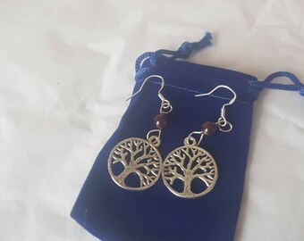 Moonstone opalite Star Earrings SS925 Earwires in Blue Velvet Pouch