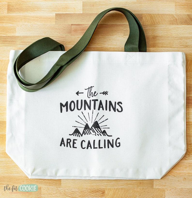 Mountains Calling Large Tote Bag image 1