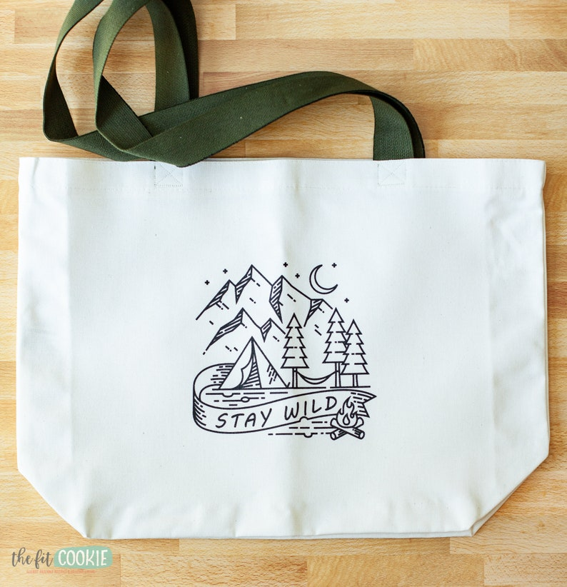 Stay Wild Large Tote Bag image 1