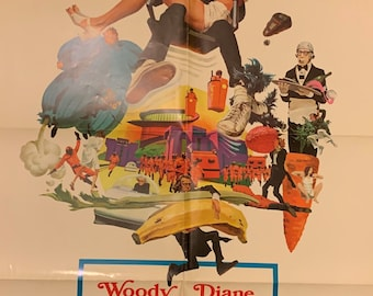 SLEEPER movie poster WOODY ALLEN DIANE KEATON 24X36 futuristic zany comedy