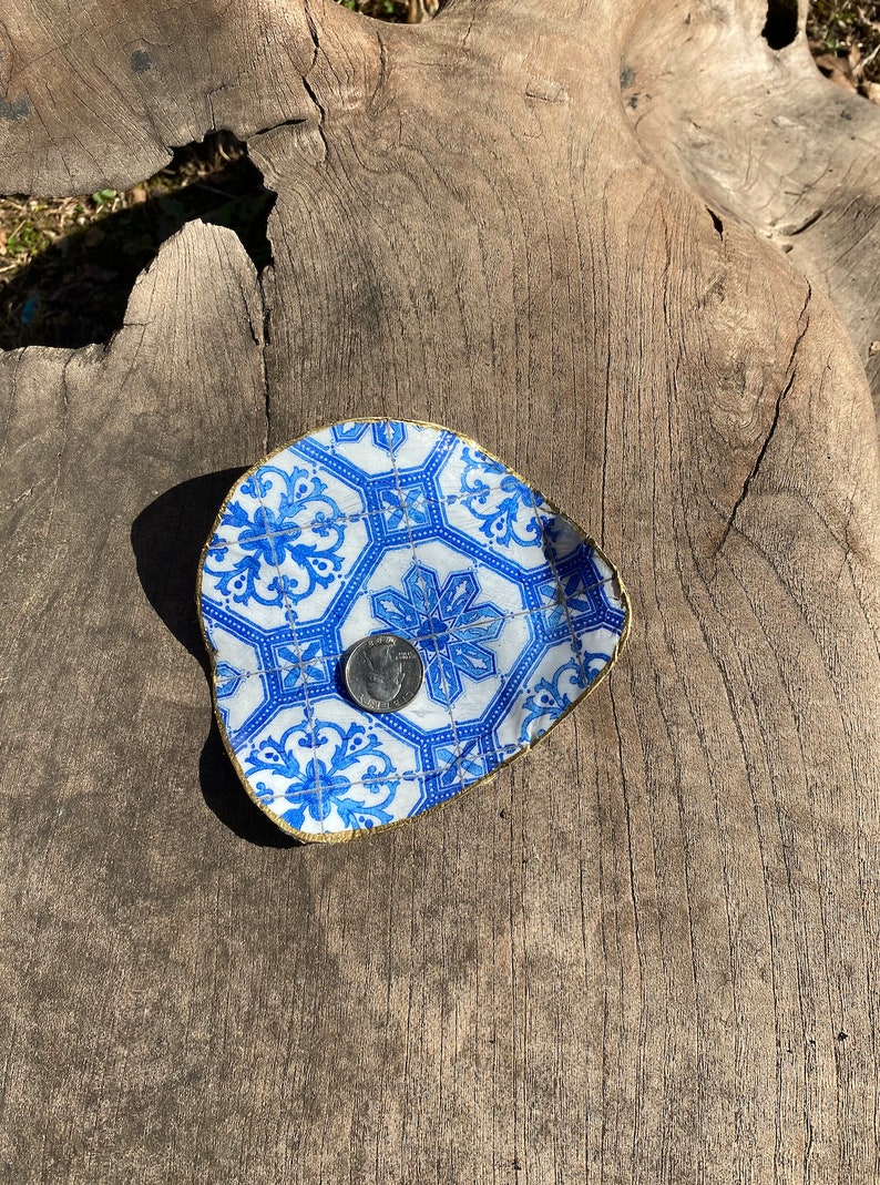 Mother/'s of Pearl Decoupage Napkin Greek Tiles Greek Decoration Mexican Tiles, Greek Decoupage Shell Blue and White Greek Design