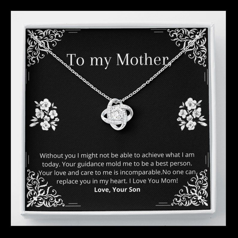 Mother Love Knot Bonding Necklace Gift for mom Sterling Silver