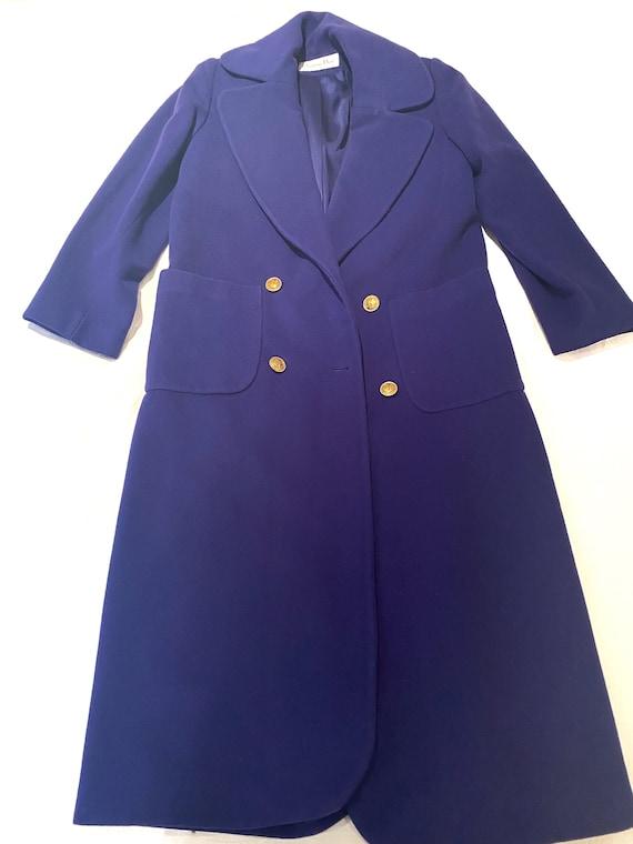 Dior Coat - Dior blue Coat - Dior Vintage coat
