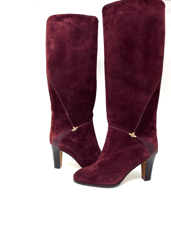 Gucci Boots - Burgundy Suede Size EU 38, UK 5, US