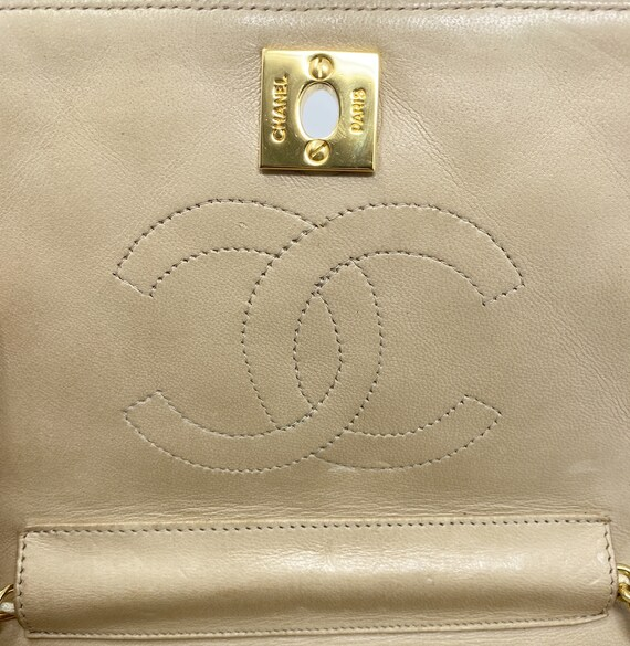 Chanel beige bag, with authenticity certificate, … - image 3