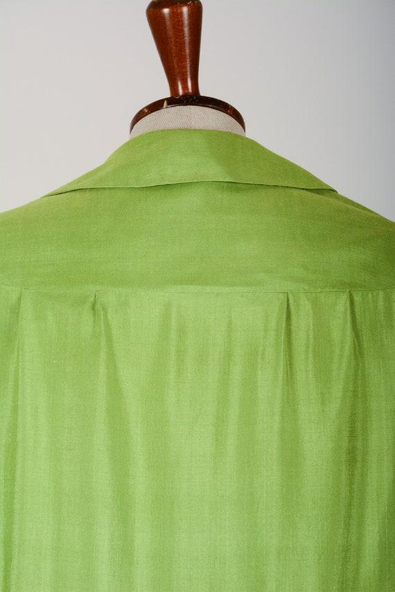 1920's Dress, Green Day Dress, Flapper, Silk, Tru… - image 6