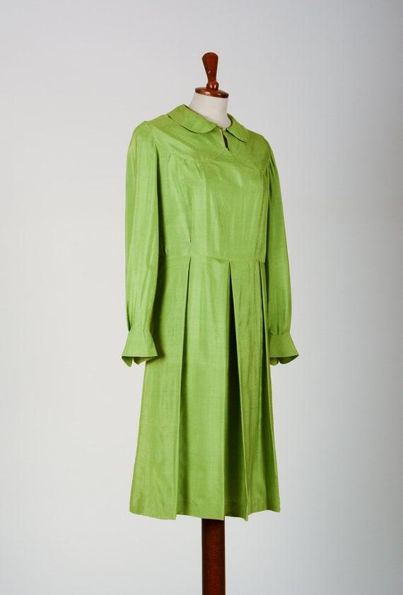 1920's Dress, Green Day Dress, Flapper, Silk, Tru… - image 4