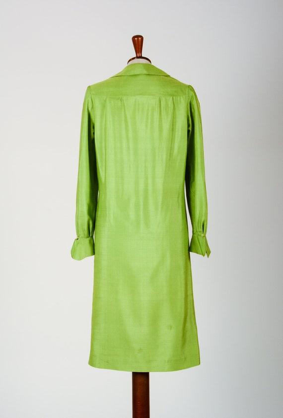 1920's Dress, Green Day Dress, Flapper, Silk, Tru… - image 5