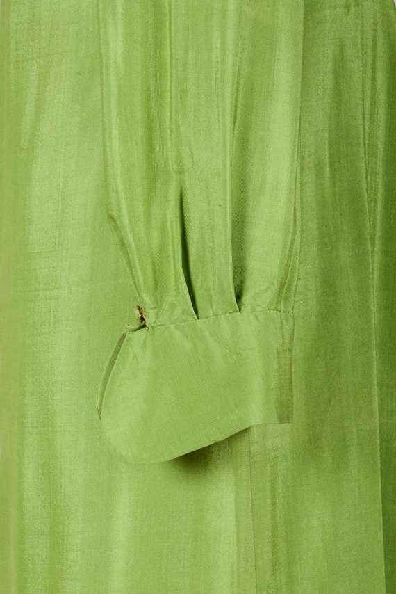 1920's Dress, Green Day Dress, Flapper, Silk, Tru… - image 3