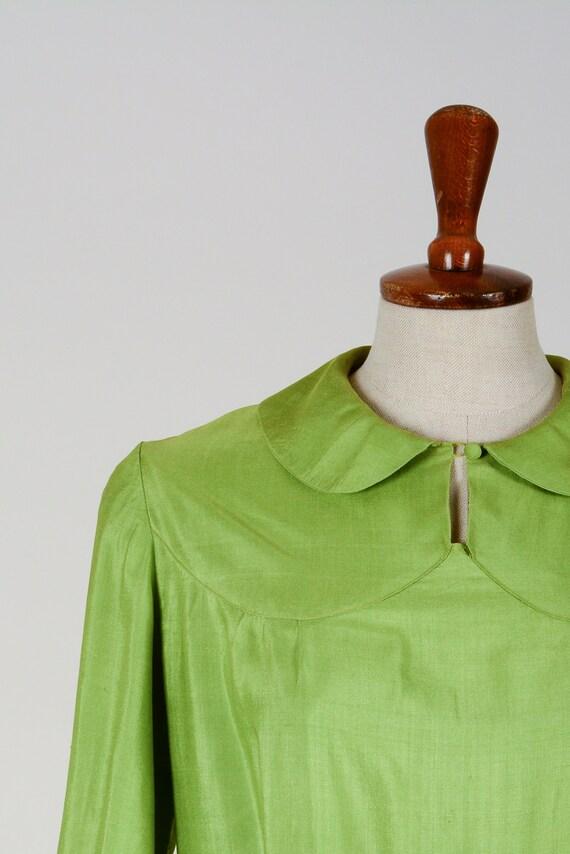 1920's Dress, Green Day Dress, Flapper, Silk, Tru… - image 2